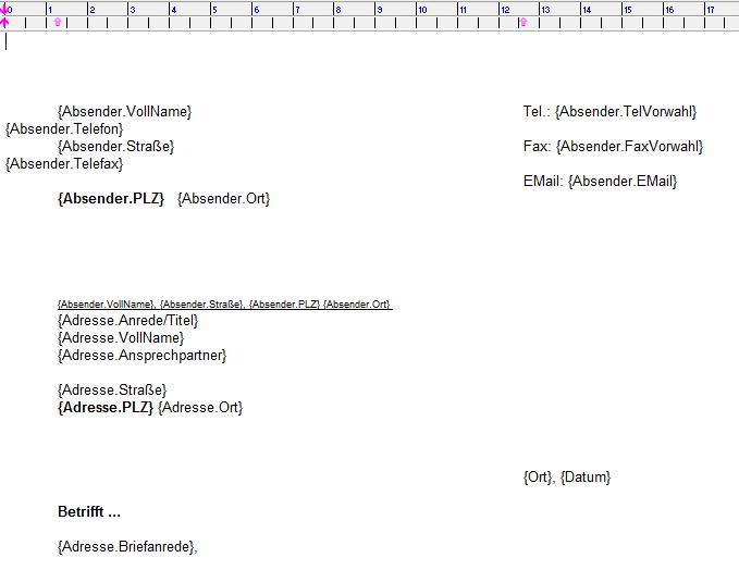Anwendungsbeispiel Mailings Und Serienbriefe